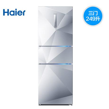 海尔冰箱 bcd-249wdegu1怎么样?风冷无霜智能家用三开门电冰箱