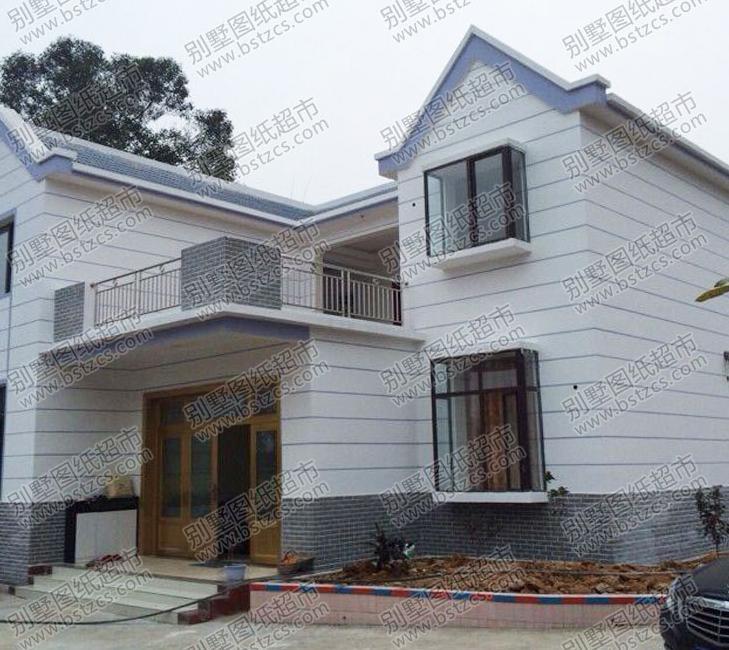 9米×12米二层带围墙新农村别墅设计图纸及效果图_鼎川别墅图纸超市