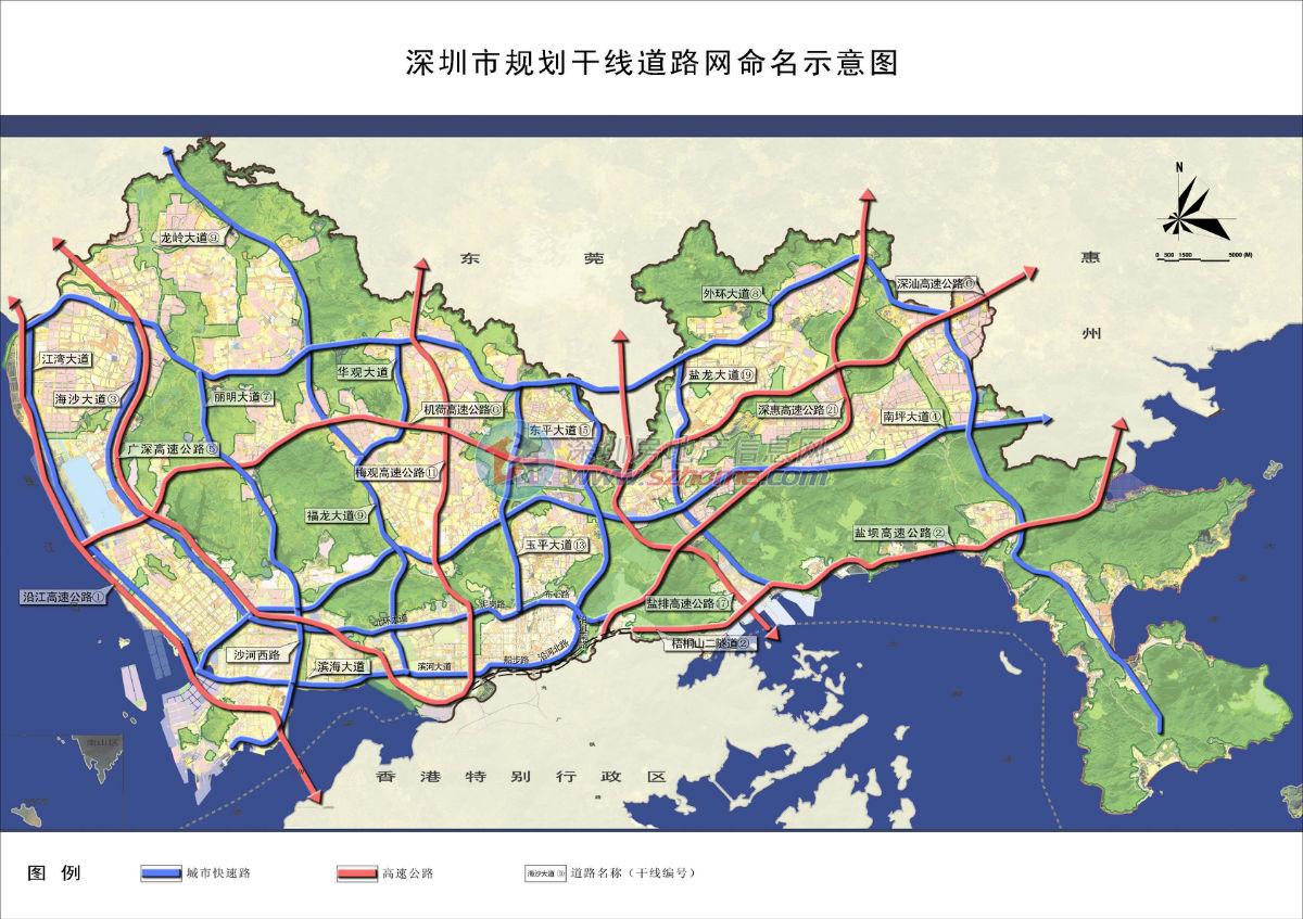 深圳各个区地图_深圳南山区地图