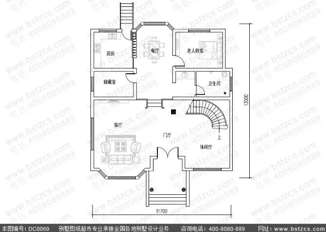 150平方米三层欧式大气农村别墅效果图全套施工图