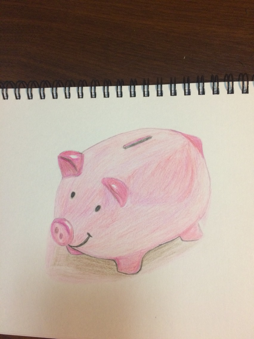 可爱小猪铅笔素描
