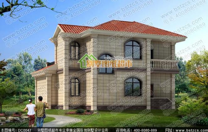 120平方米二层欧式农村别墅全套效果图纸_鼎川别墅图纸超市