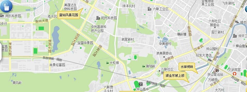 中在深圳市规划和国土资源网上看到的东部快线规划图