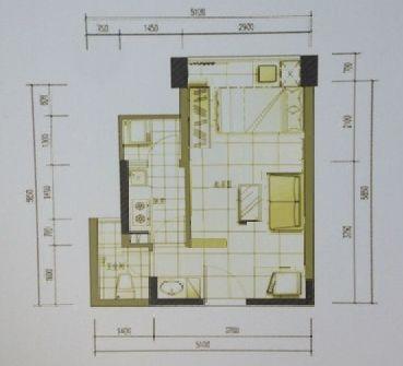 求单身公寓户型设计图