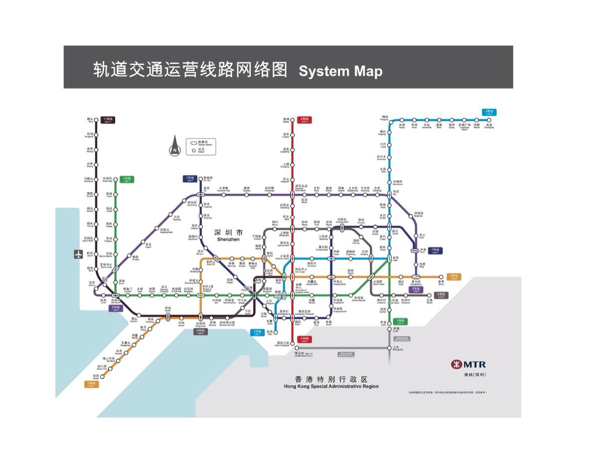 最新深圳官方地铁图(2015-12-26更新)