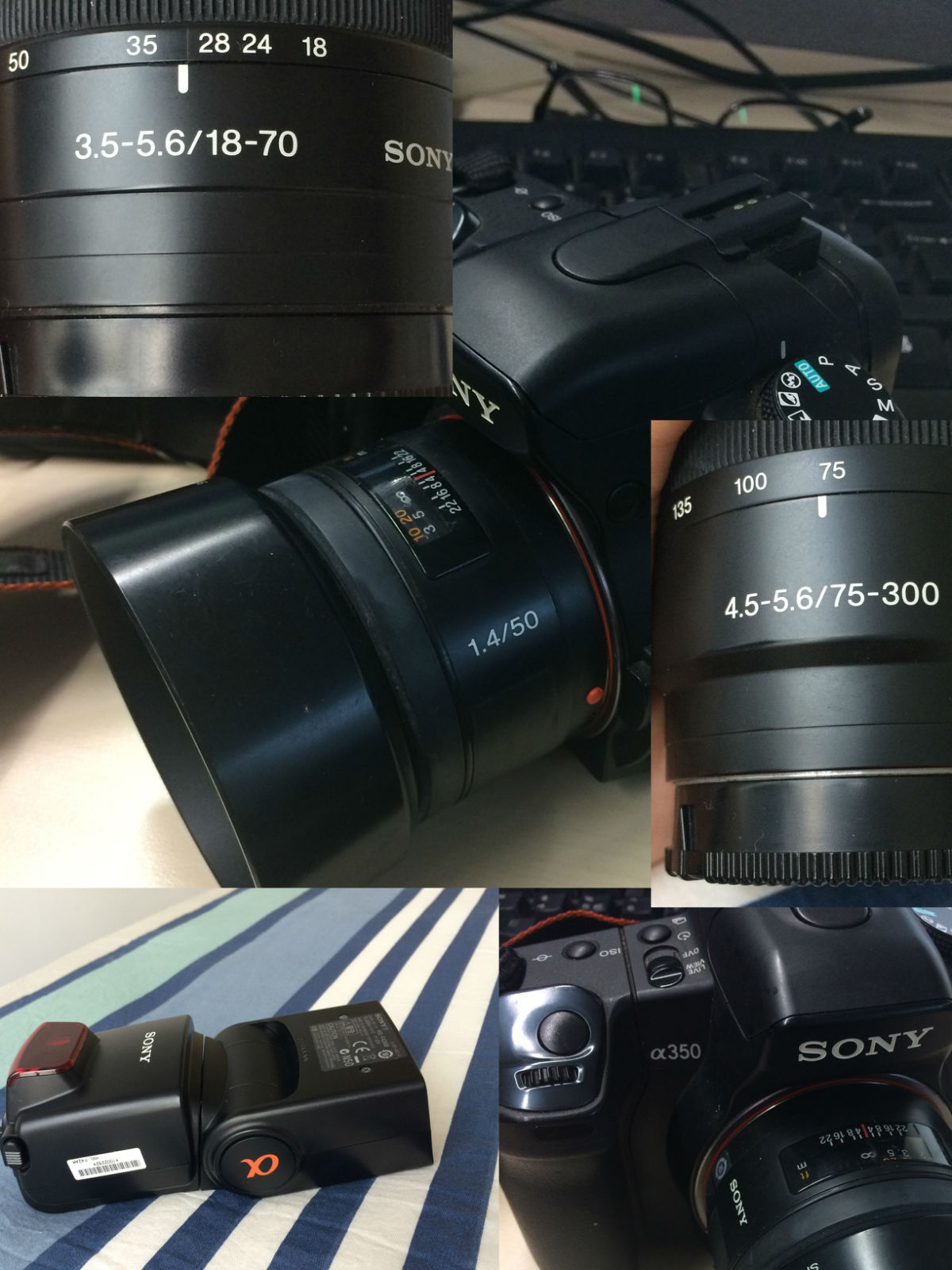 sony单反相机镜头闪光灯