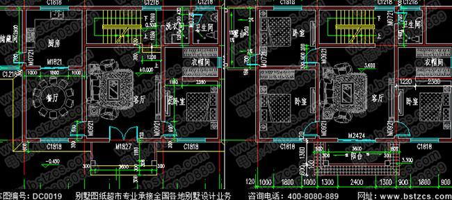 120平方米三层砖混结构22万农村别墅全套效果图纸
