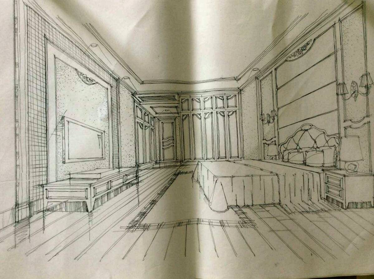 施工前期设计手绘图
