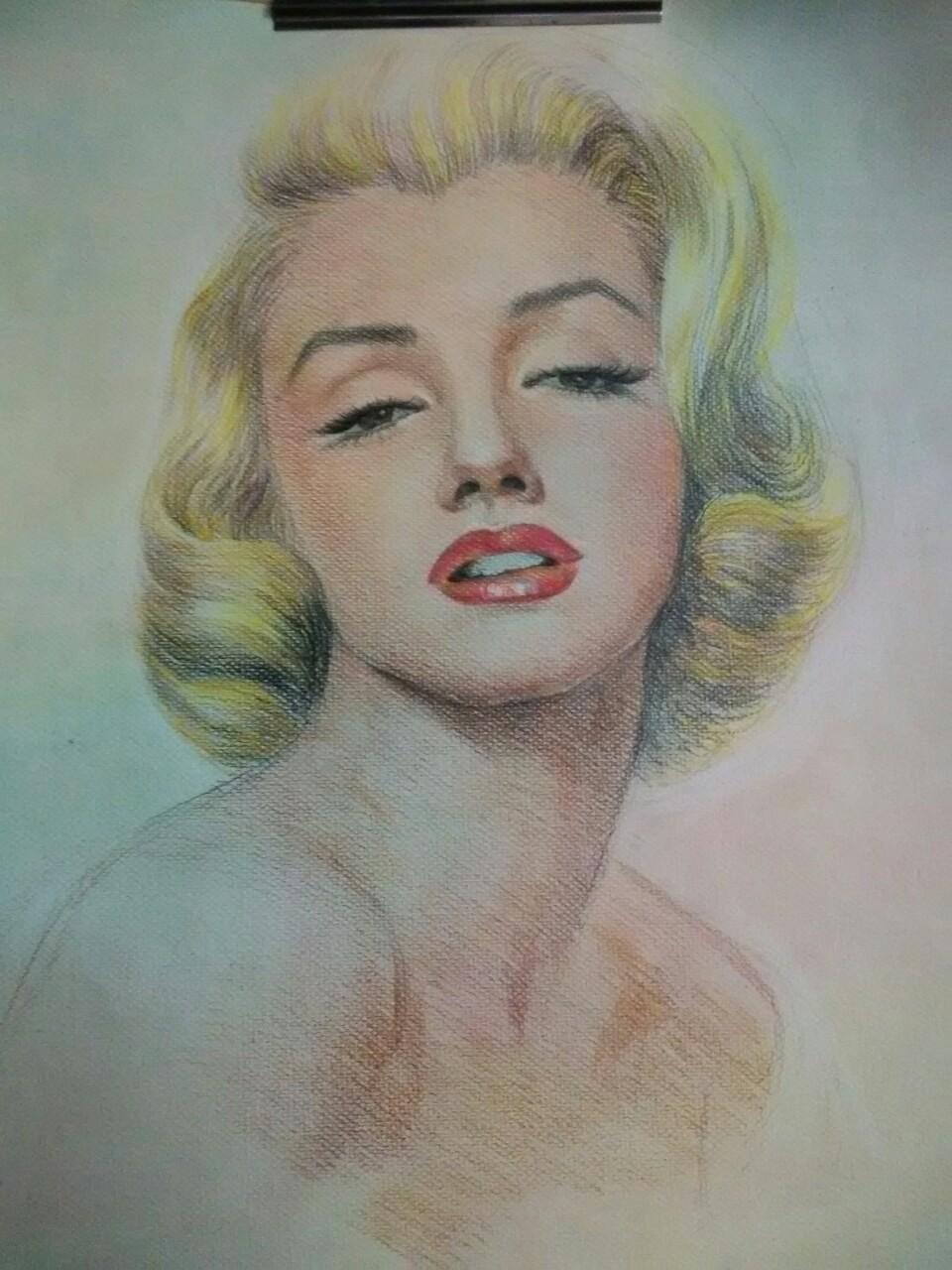 玛丽莲梦露手绘壁纸