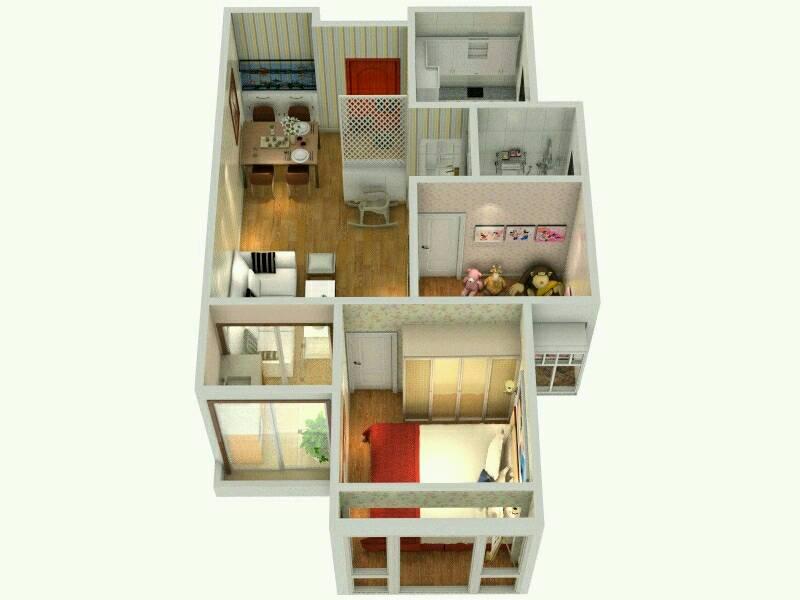 """""""家在""""学习设计团队之【龙瑞佳园户型效果图设计活动】——二房设计图"""