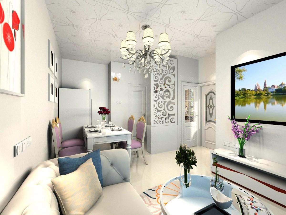 """安居房 公租房  > """"家在""""设计团队之【龙瑞佳园两房一厅户型效果图"""